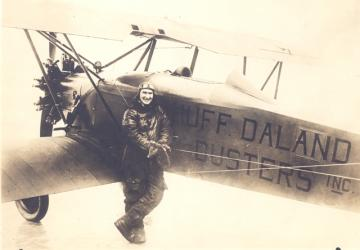 1920 Huff Daland Duster plane with pilot Harris 1920s
