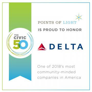 Delta named one of the Civic 50