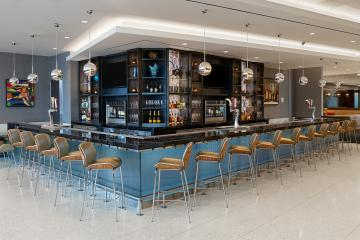 Delta Sky Club full-service bar at new SLC airport