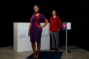 Delta Runway Reveal Above Wing Airport Customer Service vignette