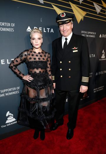 Hasley at Delta pre-GRAMMY party