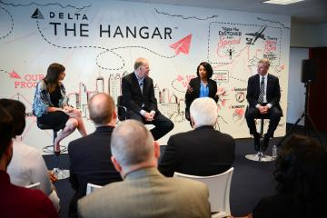 Panel discussion at The Hangar