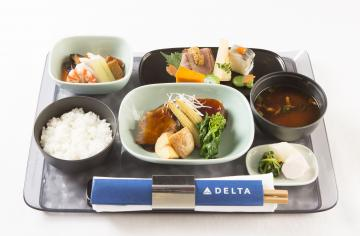 JP Chef meal on Japan to Hawaii Delta One