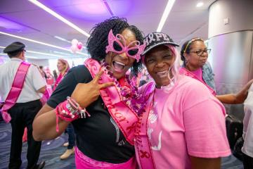 Breast Cancer One flight