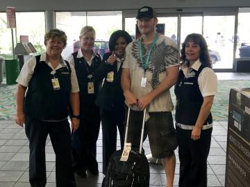 Roadie driver with Delta employees