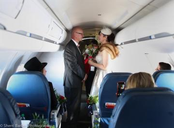 Two Delta fans tie the knot