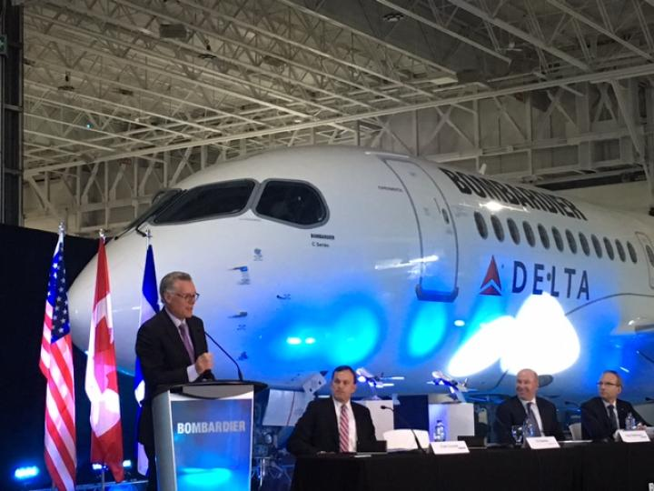 Ed Bastian at Bombardier order announcement
