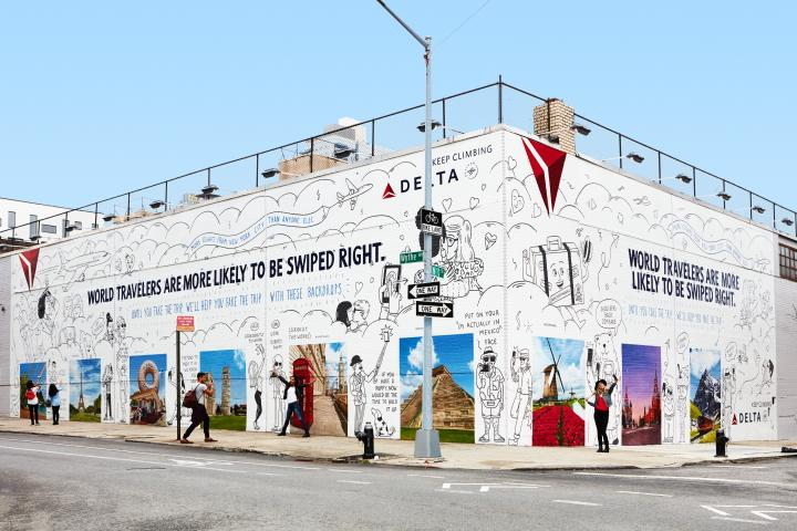 Delta mural in Brooklyn
