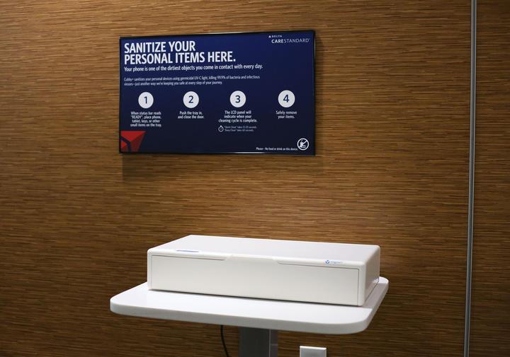 Sanitizing Station in Sky Club