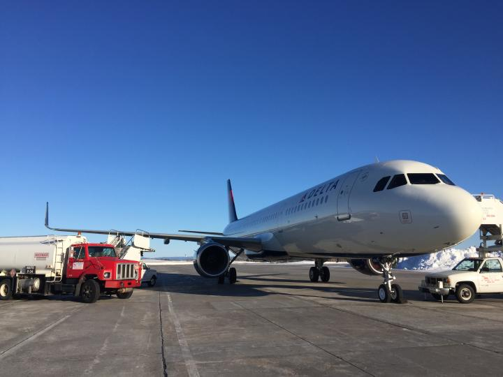A321 refueling in Goose Bay, Canada