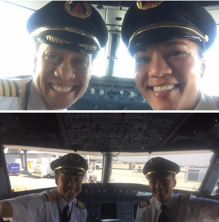 Two African-American female pilots make history in the flight deck