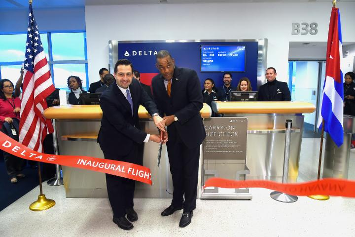 Ribbon cutting in New York-JFK