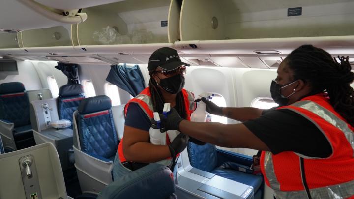Clean Teams prep planes for Afghanistan evacuees
