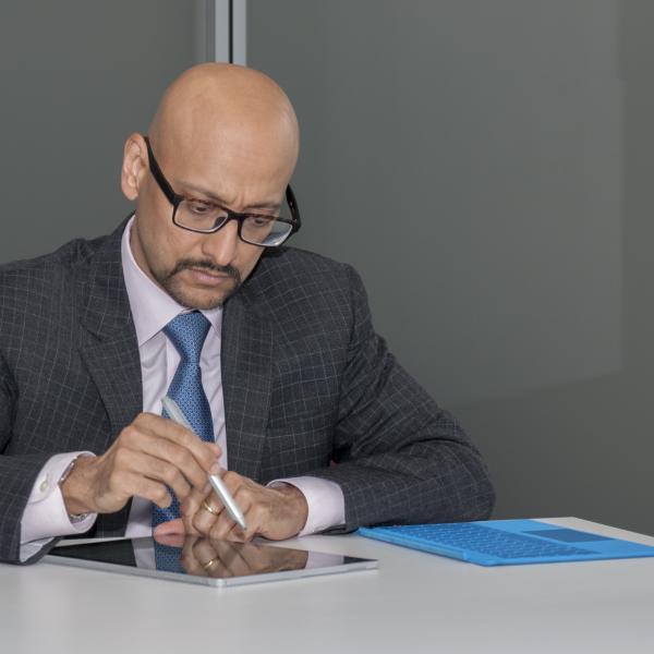 Rahul Samant at work