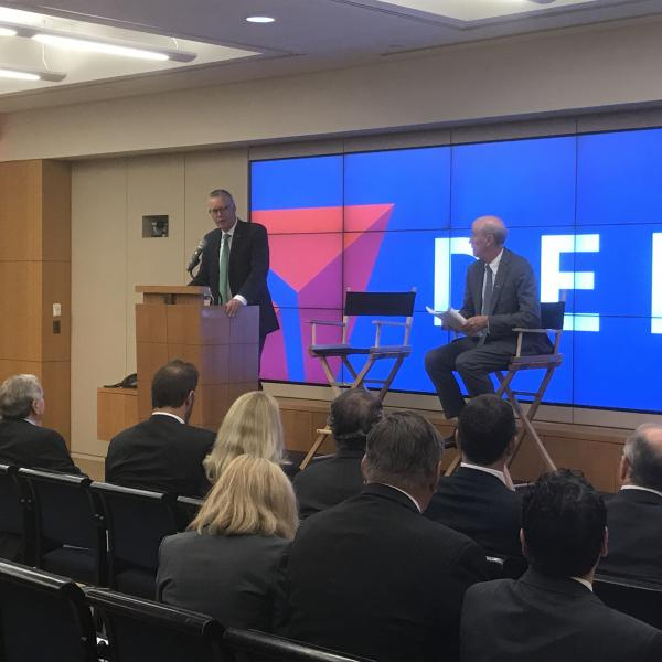 Ed Bastian and Frank Blake at 2017 Delta shareholders meeting