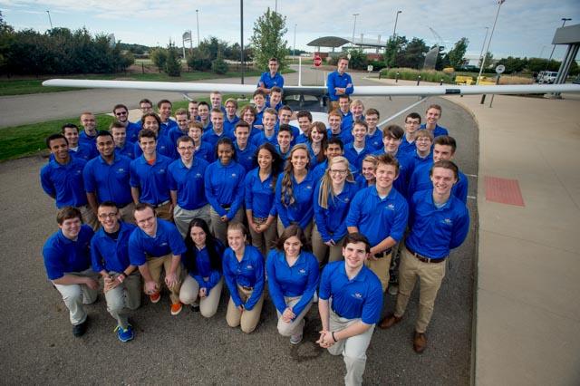 Aviation school team Group Photo